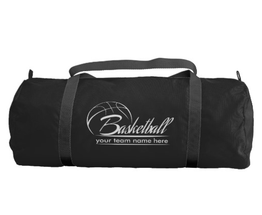 Basketball Banner Gym Bag