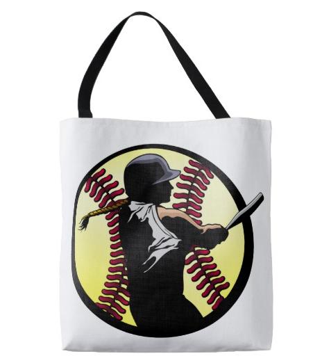 Softball Female Batter Tote Bag