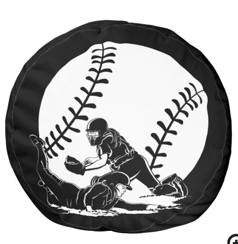 Softball Slide Home Pouf