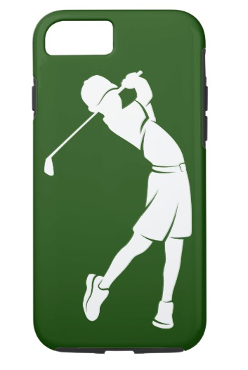 Boy Golfer Silhouette Phone Case