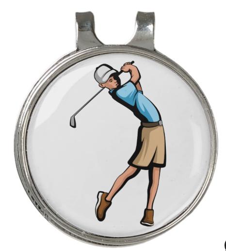 Golfer Boy Golf Hat Clip