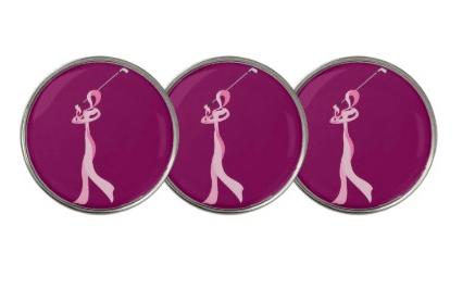 Breast Cancer Golfer Ribbon Golf Ball Marker
