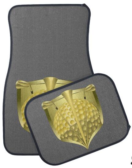 Golf Gold Shield Car Floor Mat