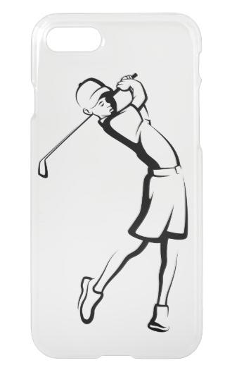 Boy Golfer Clear Phone Case
