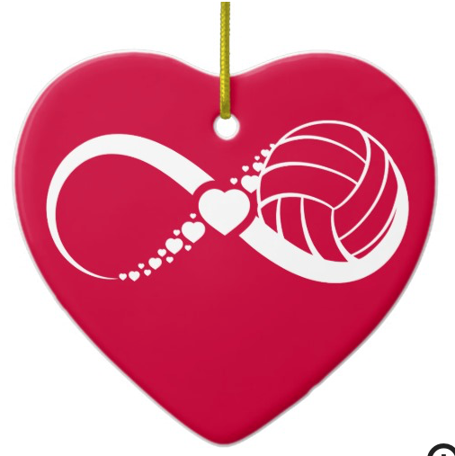 Volleyball Infinite Love Ceramic Ornament