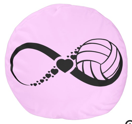 Volleyball Love Infinity Pouf
