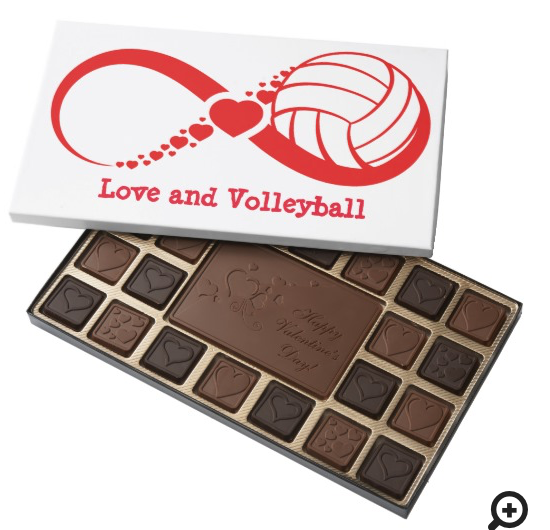 Love and Volleyball Infinity Chocolates