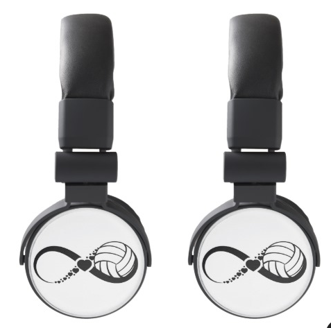 Volleyball Love Infinity DJ Style Headphones