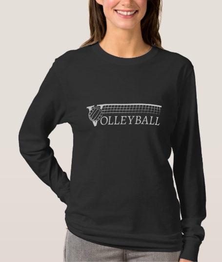 Volleyball With Net Women's Long Sleeve T-shirt