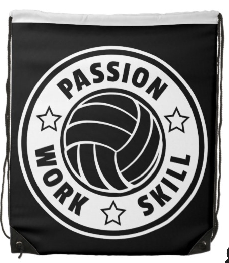 Volleyball Passion Drawstring Backpack