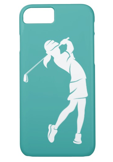 Girl Golfer Swinging an Phone Case