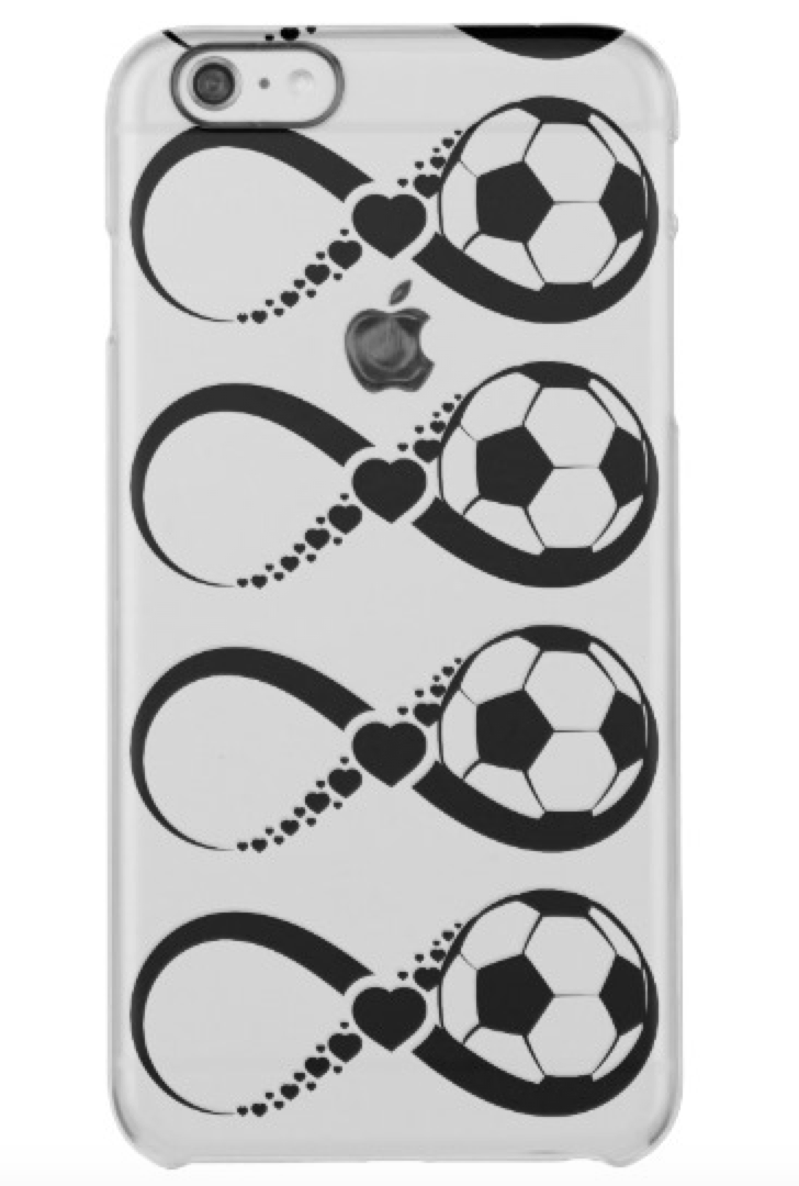 Soccer Love Infinity Clear Phone Case