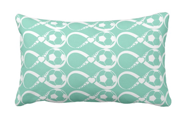 Soccer Love Infinity Rectangle Pillow