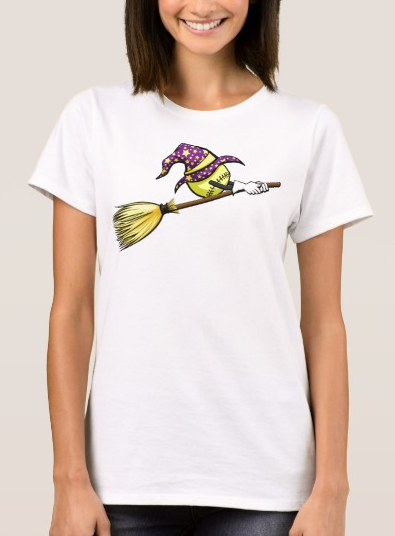 Softball Halloween Witch T-Shirt