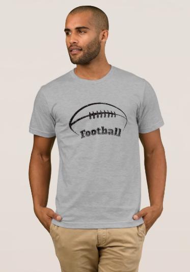 Grunge-style Football Design T-Shirt