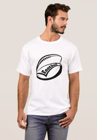 Stylized football with swooping pennant T-Shirt