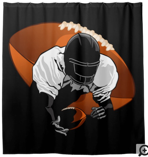 Football Diving Catch Shower Curtain