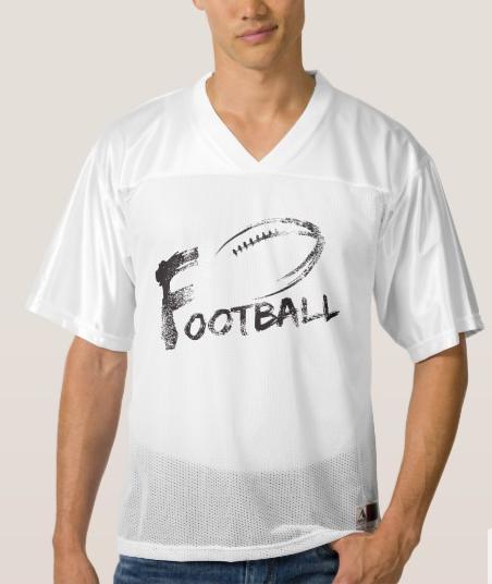 Football Grunge Streaks Men's Football Jersey