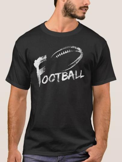 Football Grunge Streaks T-Shirt