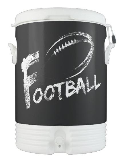 Football Grunge Streaks Beverage Cooler