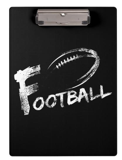 Football Grunge Streaks Clipboard