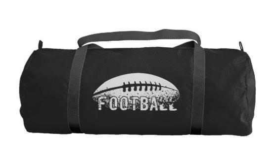 Grunge Football Duffle Bag
