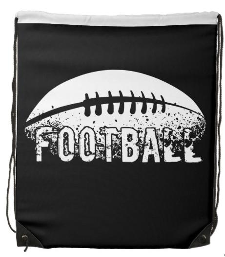 Grunge Football Backpack