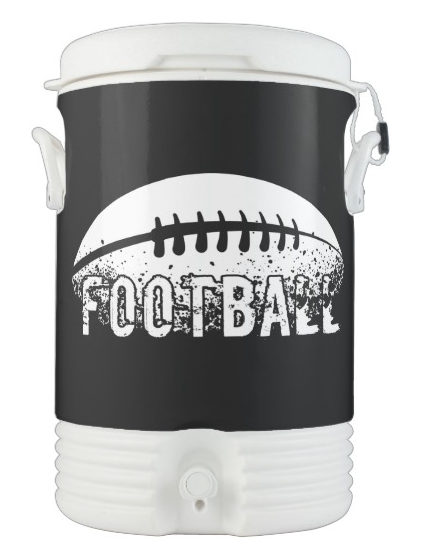 Grunge Football Igloo Beverage Cooler