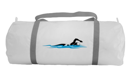 Woman Swimming Gym Bag