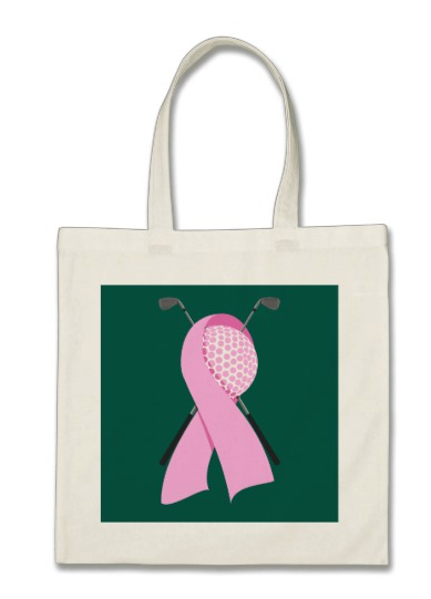 Golf Breast Cancer Awareness Tote Bag