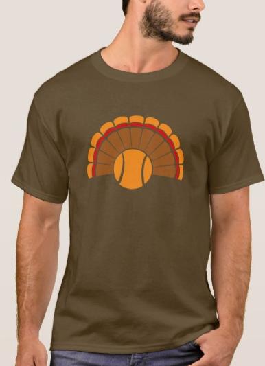Tennis Thanksgiving Turkey Tail T-Shirt