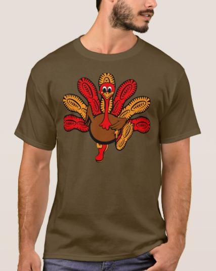Thanksgiving Turkey Sole Run T-Shirt