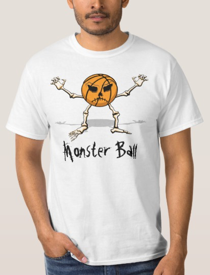 Basketball Monster Halloween Ball Value Tee