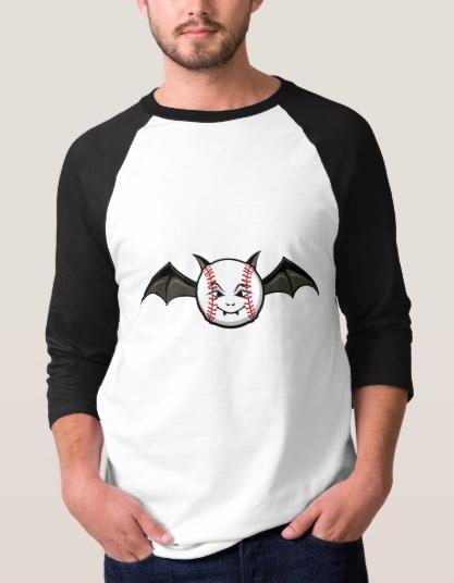 Halloween Baseball Bat Jersey T-shirt