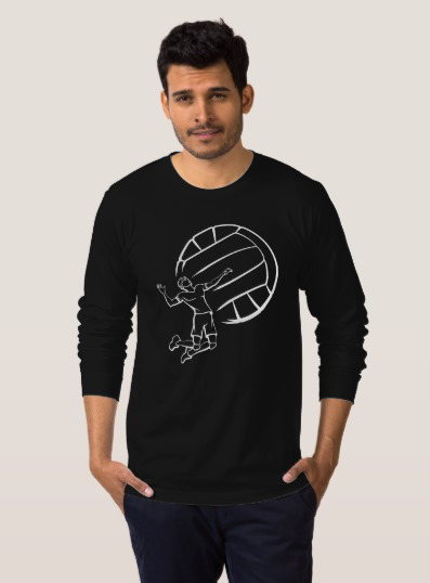 Volleyball Player Spiking T-Shirt