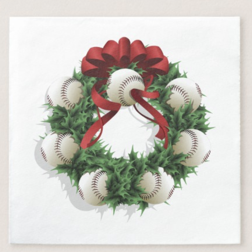 Baseball Wreath Napkin