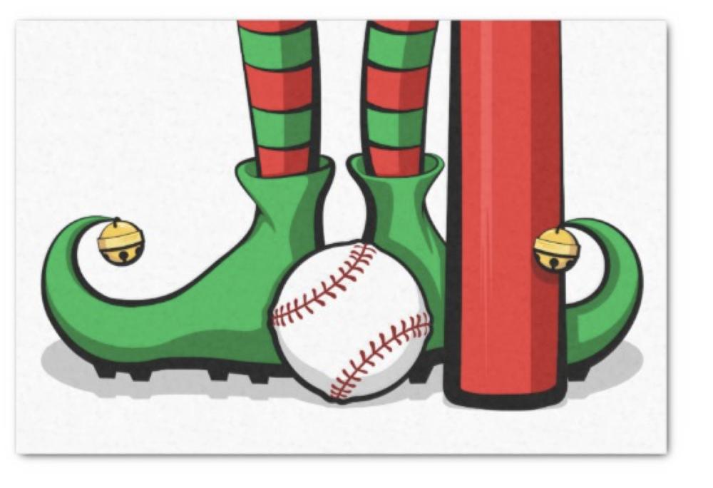 Baseball Christmas Elf Feet Tissue Paper