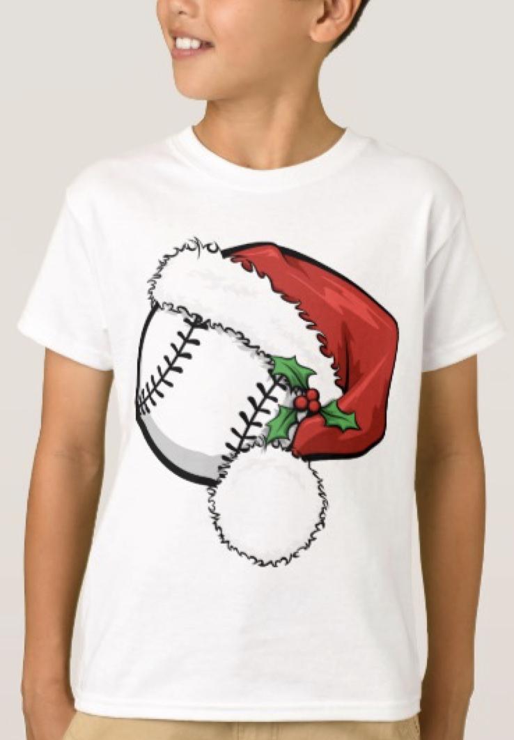 Baseball Santa Cap T-Shirt