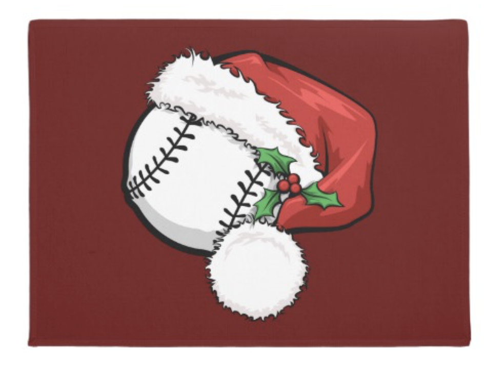 Baseball Santa Cap for Christmas Doormat