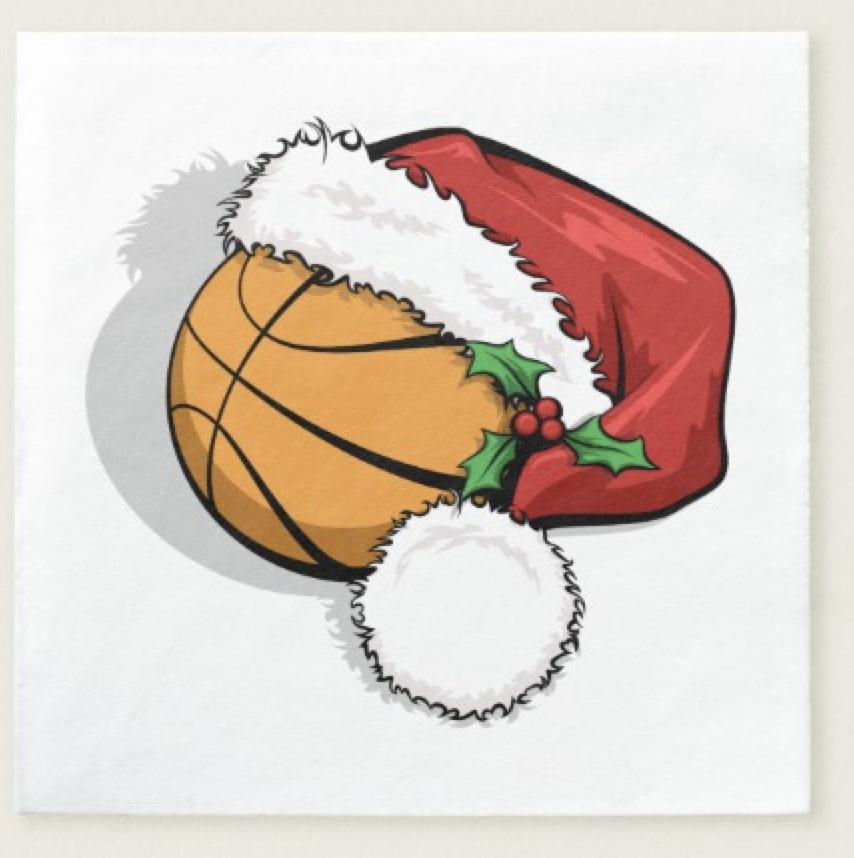 Basketball Santa Cap Paper Napkin