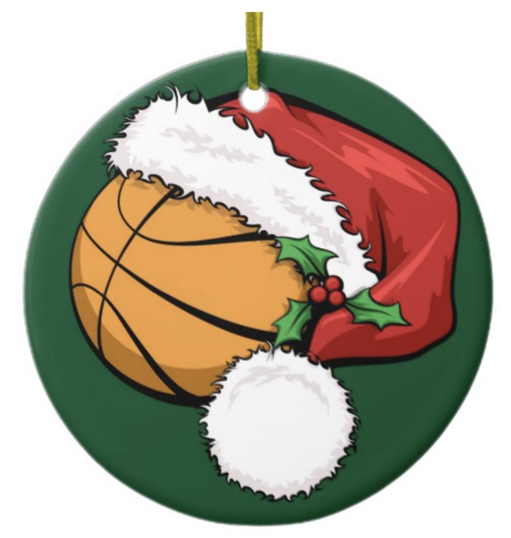 Basketball Santa Cap with Ornament