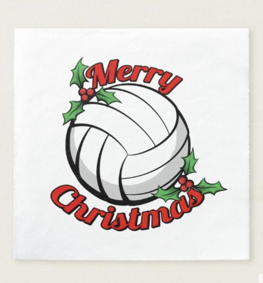 Volleyball Merry Christmas Napkin