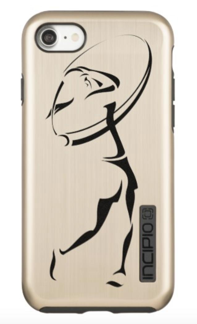 Female Golfer Swinging Incipio DualPro Shine iPhone 8/7 Case