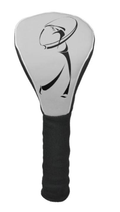 Stylized Golfer Teeing Off Golf Head Cover