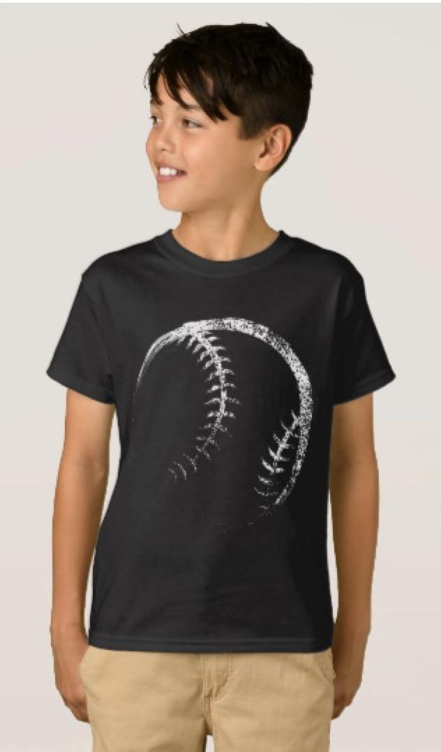 Grunge Style Basketball Design T-Shirt