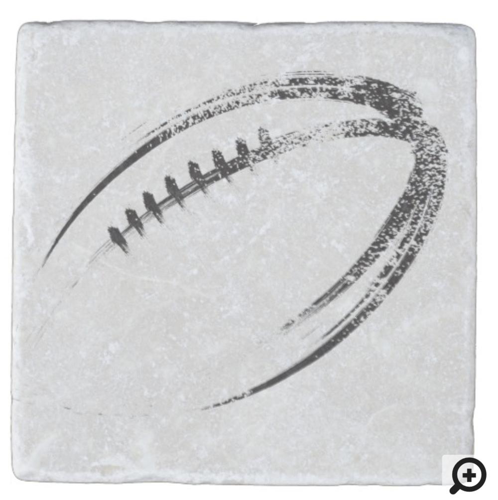 Grunge Style Football Design Stone Coaster