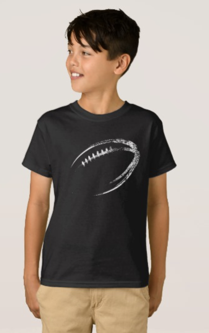 Grunge Style Football Design T-Shirt