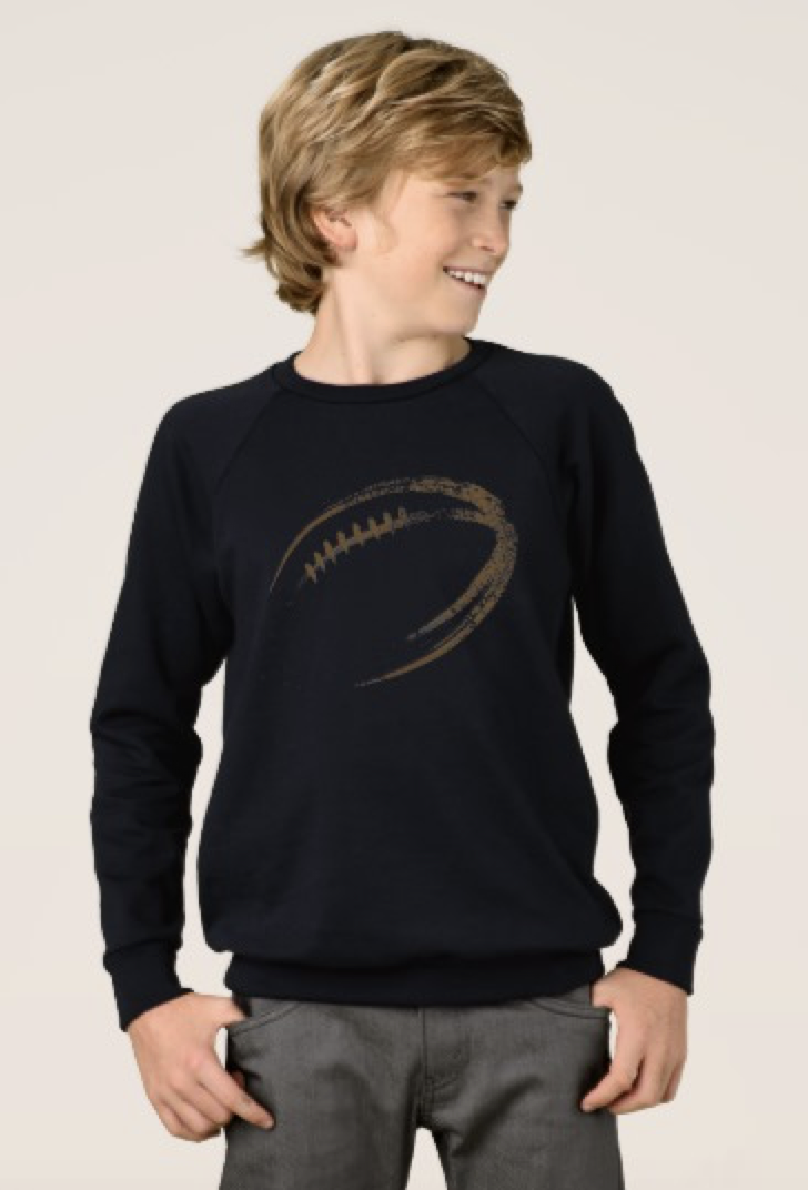 Grunge Style Football Design Sweatshirt