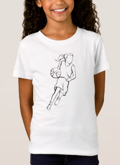 Basketball Girl Dribble T-Shirt