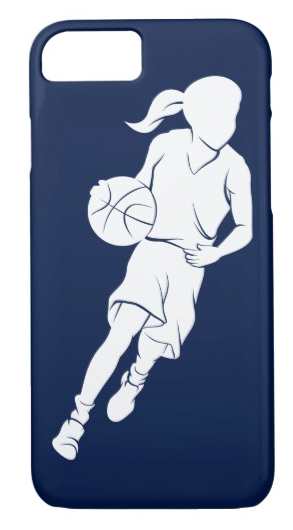 Basketball Girl Dribbling iPhone 8/7 Case